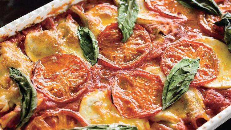 トマトとフレッシュ野菜のラザニア