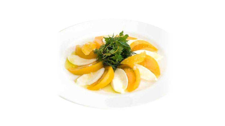 イエロートマトのカプレーゼ
