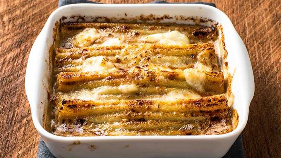 カンネローニのオーブン焼き ポルチーニソース