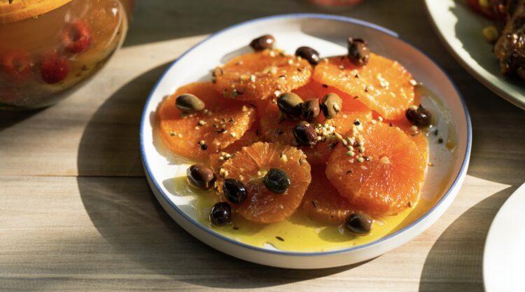 オレンジとオリーブのマリネ
